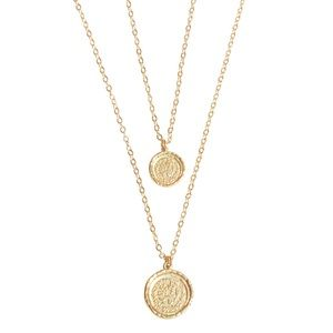 *NEW* Amber Sceats Double Coin Necklace